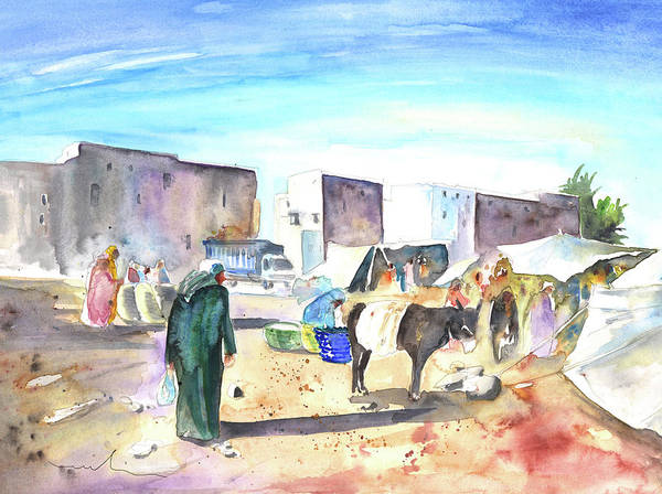 Painting - Morrocan Market 05 by Miki De Goodaboom