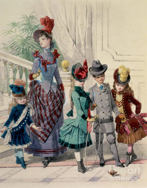 Picture of a family from the Bourgeosie from fineartamerica.com