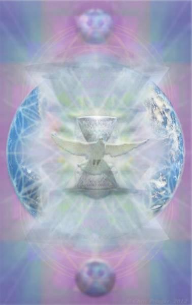 Digital Art - Mother Earth Dove And Chalice by Christopher Pringer