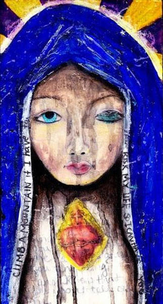 Sacred Heart Mixed Media - Mother by Leeanne Vavra