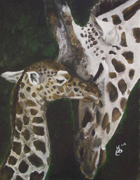 Wall Art - Painting - Motherly Love by Kim Selig