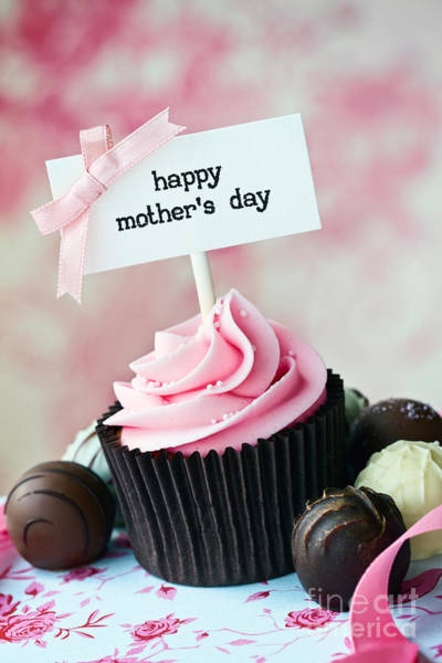Wall Art - Photograph - Mother's Day Cupcake by Ruth Black