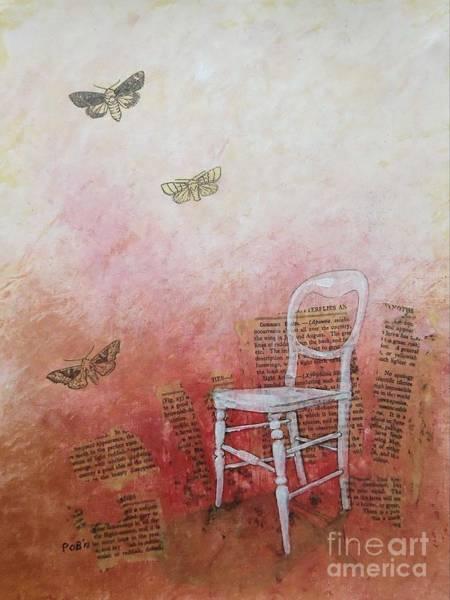 Chair Mixed Media - Moths by Paul OBrien