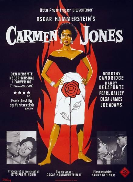 Motion Picture Poster For Carmen Jones Art Print