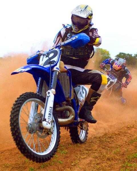 Dirt Bike Photograph - Motocross-1 by Tony Ramos