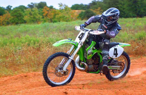 Dirt Bike Photograph - Motocross-2 by Tony Ramos