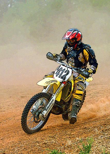 Dirt Bike Photograph - Motocross-3 by Tony Ramos