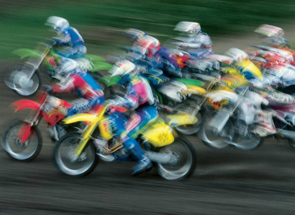 Dirtbike Photograph - Motocross Racing by Darwin Wiggett