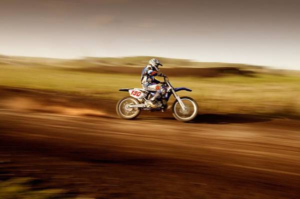 Motorcycle Racing Photograph - Motocross Rider by Design Pics