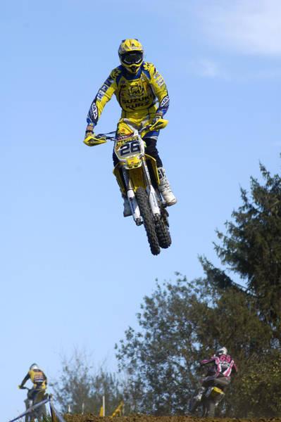 Photograph - Motocross Rider Jumping High by Matthias Hauser