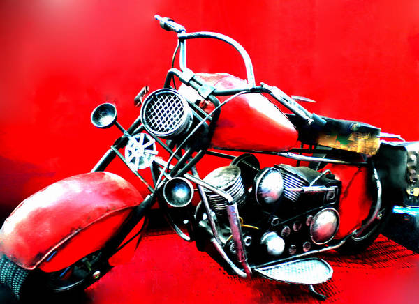 Photograph - Motor Cycle Getting  Ready For Departure by Colette V Hera  Guggenheim