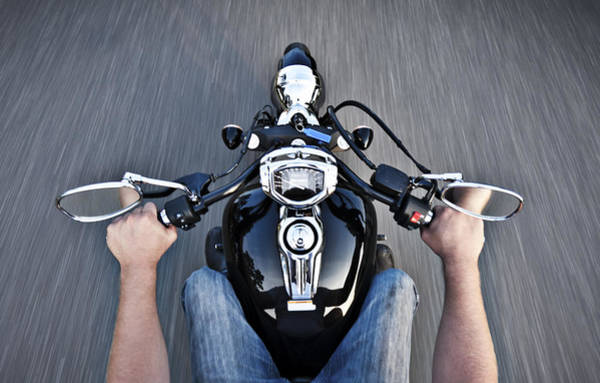Wall Art - Photograph - Motorcycle View by Mike Raabe