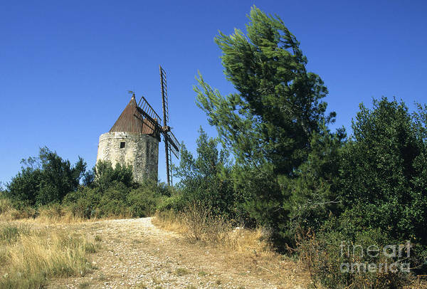 South Of France Wall Art - Photograph - Moulin Of Daudet. Fontvieille. Provence by Bernard Jaubert