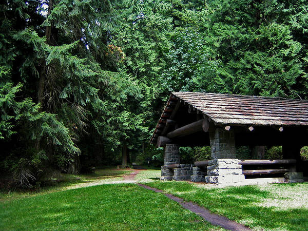 Photograph - Mount Constitution Shelter by Lorraine Devon Wilke