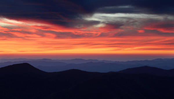 Photograph - Mount Mitchell Sunset by Pierre Leclerc Photography