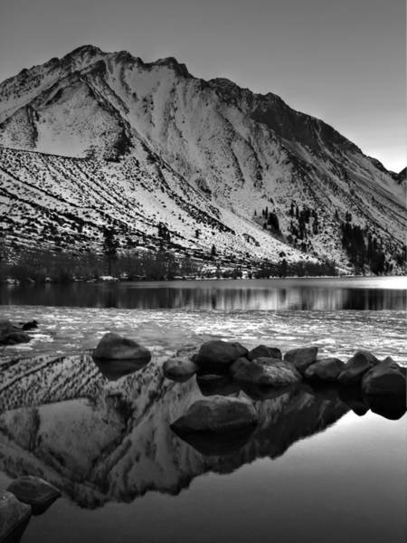 Photograph - Mount Morrison And Convict Lake Monochrome by Scott McGuire