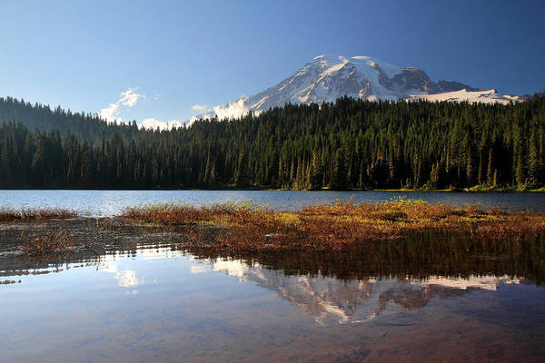 Photograph - Mount Rainier Reflection Lake by Pierre Leclerc Photography