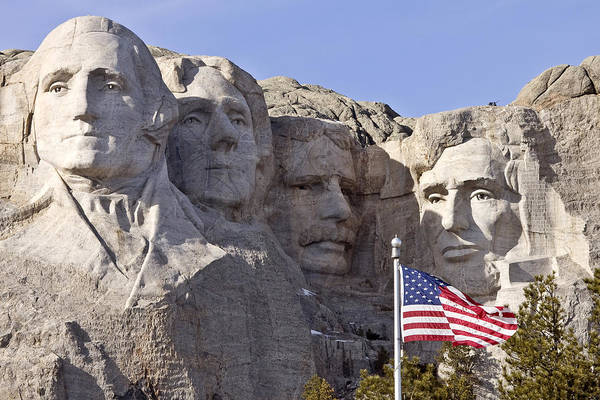 Mounted Digital Art - Mount Rushmore South Dakota Black Hills by Mark Duffy