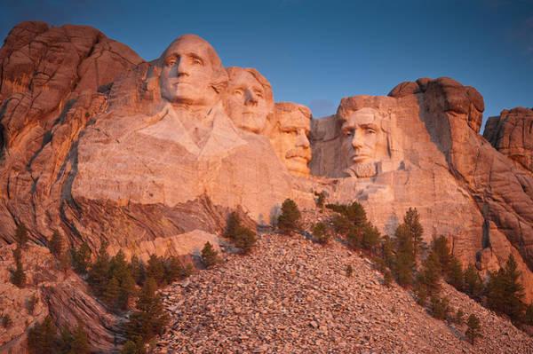 Rushmore Photograph - Mount Rushmore Sunrise by Steve Gadomski