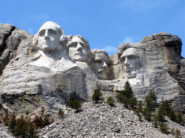 Carving Photograph - Mount Rushmore Usa by Olivier Le Queinec