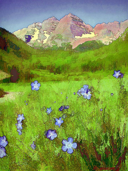 Mountain Flowersketch Art Print
