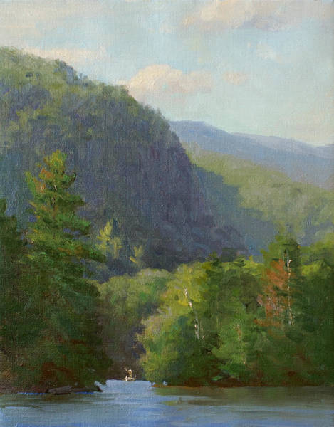 Adirondack Mountains Painting - Mountain Shadows by Marianne Kuhn