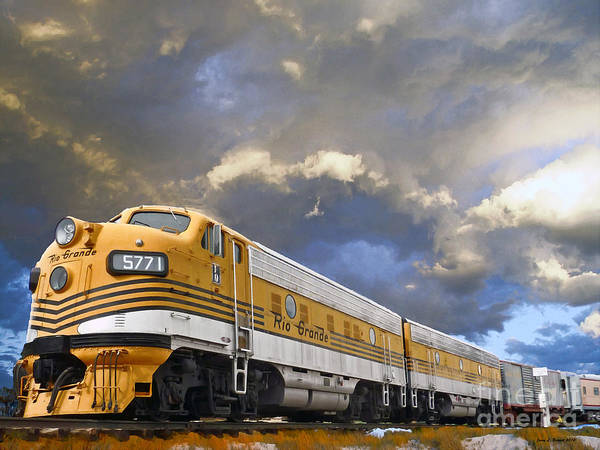 Mixed Media - Mountain Train by Jerry L Barrett