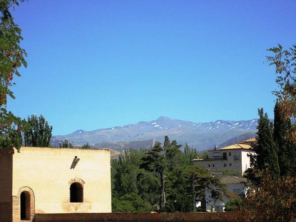 Photograph - Mountain View From Alhambra Granada Spain by John Shiron