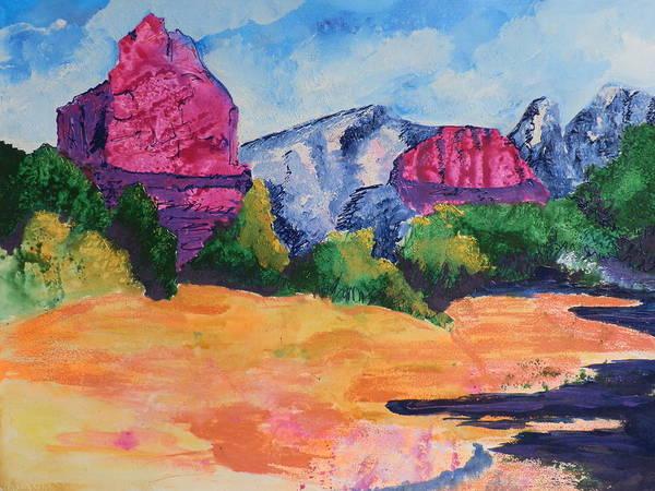 Elwood Blues Painting - Mountains Of Sedona by Jann Elwood