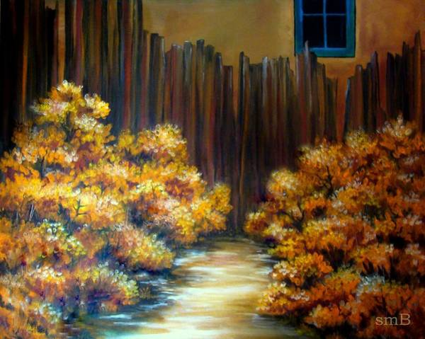 Bergstrom Painting - Mrs. Becker's Fence by Susan Bergstrom