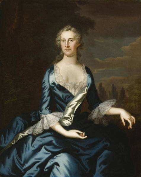 Mrs Wall Art - Painting - Mrs. Charles Carroll Of Annapolis by John Wollaston