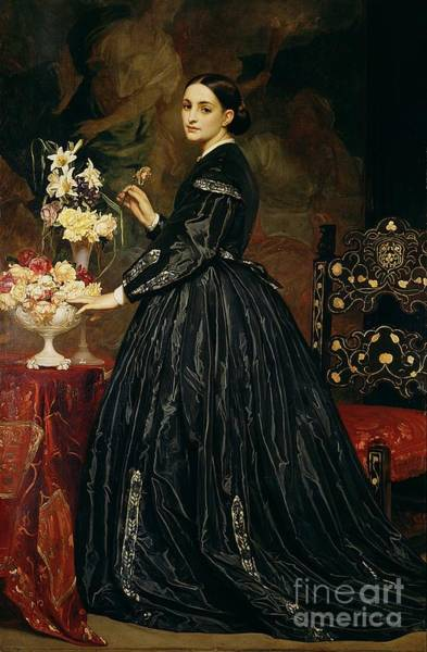Mourning Painting - Mrs James Guthrie by Frederic Leighton
