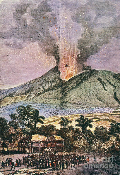 Photograph - Mt. Pelee Eruption, 1851 by Granger