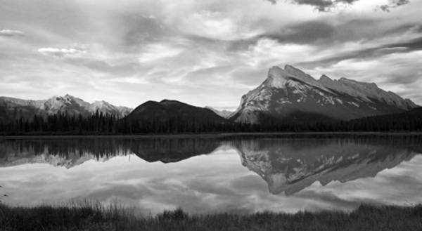 Mt. Rundel Reflection Black And White Art Print by Andrew Serff
