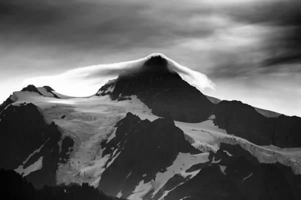 Photograph - Mt Shuksan Monochrome by Albert Seger