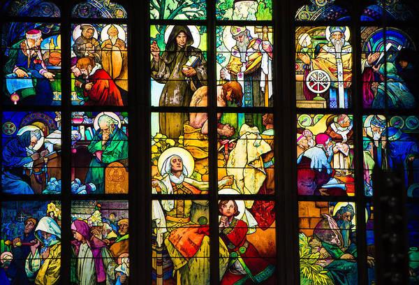 Photograph - Mucha Window St Vitus Cathedral Prague by Matthias Hauser