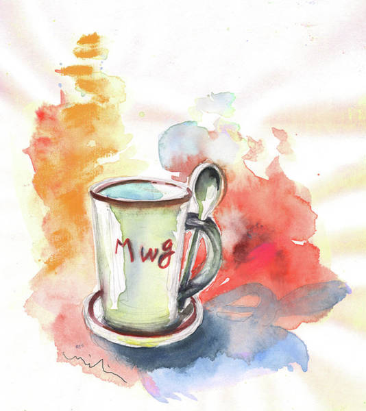 Painting - Mug by Miki De Goodaboom
