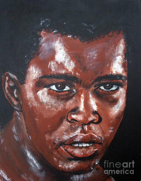 Wall Art - Painting - Muhammad Ali Formerly Cassius Clay by Jim Fitzpatrick