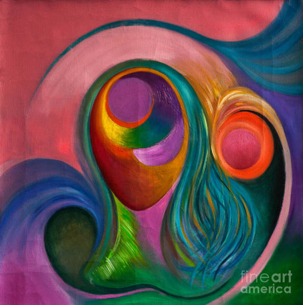 Womb Painting - Mujer Corazon by Aliosha Valle