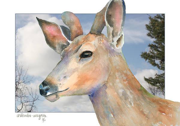 Deer Mixed Media - Mule Deer by Arline Wagner