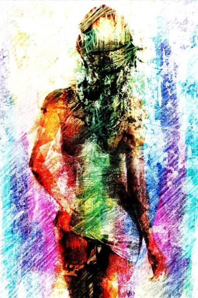 Wall Art - Digital Art - Multicolorwoman by Andrea Barbieri