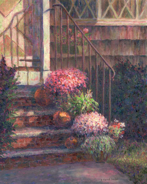 Painting - Mums And Pumpkins by Susan Savad