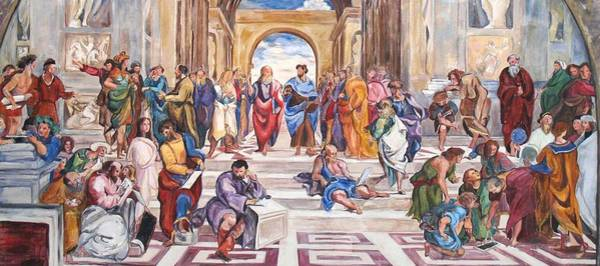 Apostolic Palace Wall Art - Painting - Mural After Raphael by Becky Kim