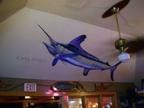 Wall Art - Painting - Mural In Ocean City Maryland by Carey Chen