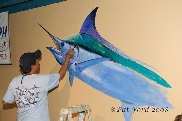 Mural Painting - Mural In St Thomas by Carey Chen