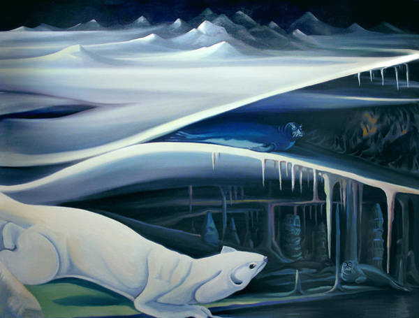 Painting - Mural Muskcrat Of The Cave by Nancy Griswold