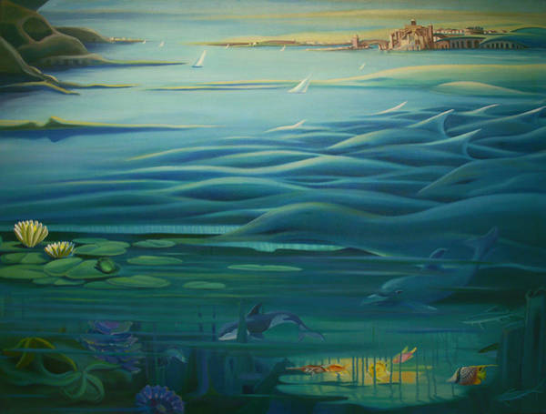Painting - Mural Tail Of Two Cities by Nancy Griswold