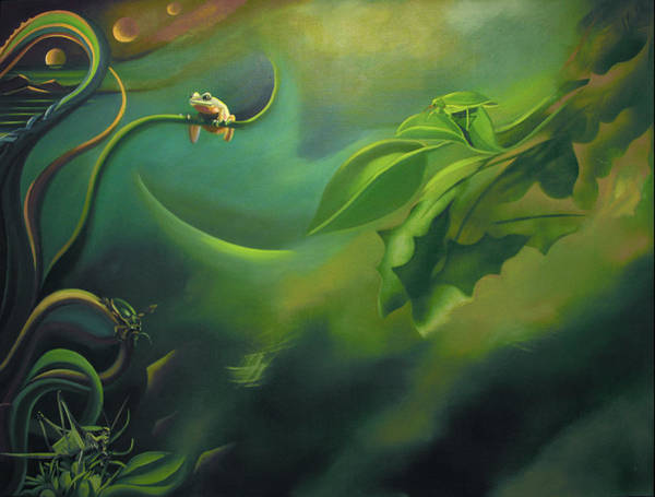Painting - Mural The Rain Forest by Nancy Griswold