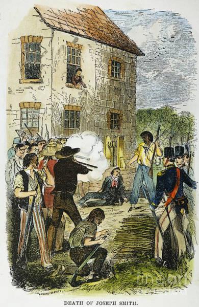 Militiaman Photograph - Murder Of Joseph Smith by Granger