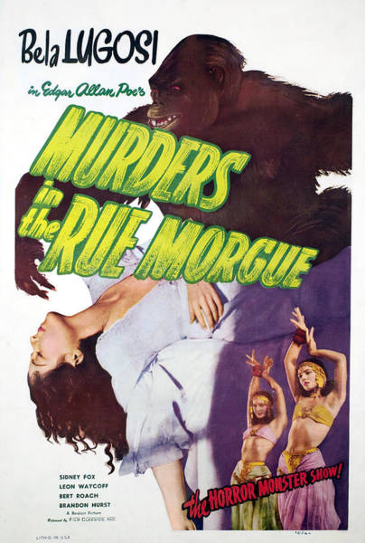 Belly Dancers Photograph - Murders In The Rue Morgue, Arlene by Everett